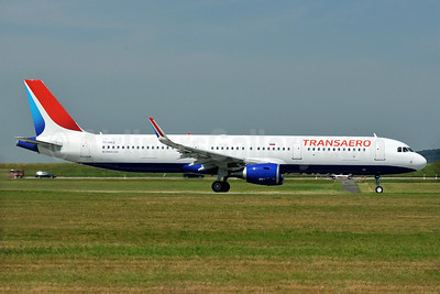 First Transaero Airbus A321, delivered July 28, 2015