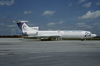 Ural Airlines Tupolev Tu-154M RA-85833 (msn 01A1020) MUC (Christian Volpati Collection). Image: 945573.