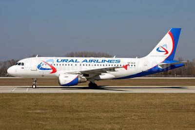 Ural Airlines Airbus A319-112 VP-BJV (msn 1603) MUC (Gunter Mayer). Image: 954327.