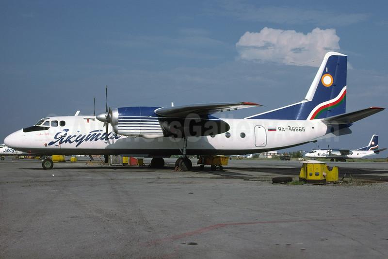 Yakutia Airlines (Yakutia Aircompany) Antonov An-24RV RA-46665 (msn 47309506) YKS (Richard Vandervord). Image: 925013.