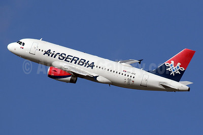 Air Serbia Airbus A319-132 YU-APE (msn 3252) LHR (SPA). Image: 941188.