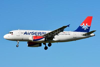 Air Serbia Airbus A319-132 YU-APD (msn 2335) ZRH (Paul Bannwarth). Image: 929243.