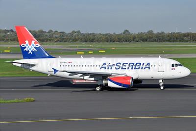 Air Serbia Airbus A319-131 YU-APC (msn 2621) DUS (Karl Cornil). Image: 913899.