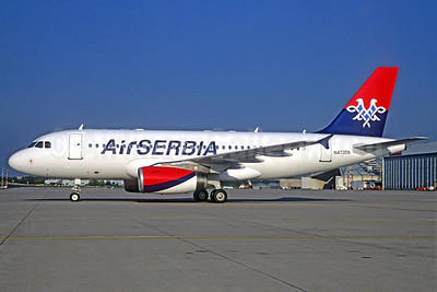 Air Serbia Airbus A319-132 N473TA (A6-SAA) (msn 1140) (Jacques Guillem Collection). Image: 921048.