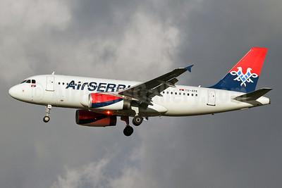 Air Serbia Airbus A319-132 YU-APE (msn 3252) LHR (Keith Burton). Image: 921968.