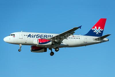 Air Serbia Airbus A319-132 YU-APB (msn 2296) LHR (Rob Skinkis). Image: 924829.