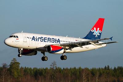 Air Serbia Airbus A319-131 YU-APC (msn 2621) ARN (Stefan Sjogren). Image: 921006.