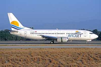 Aviolet (Air Serbia) Boeing 737-3H9 YU-AND (msn 23329) AYT (Jacques Guillem Collection). Image: 938615.