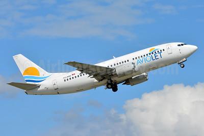 Aviolet (Air Serbia) Boeing 737-3H9 YU-AND (msn 23329)  BSL (Paul Bannwarth). Image: 937146.