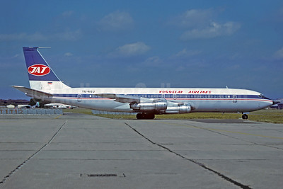 JAT-Yugoslav Airlines Boeing 707-351C YU-AGJ (msn 19411) LBG (Christian Volpati Collection). Image: 944122.