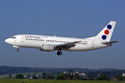 Jat Airways Boeing 737-3H9 YU-ANW (msn 24141) ZRH (Rolf Wallner). Image: 902869.