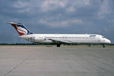 JAT-Jugoslovenski Aerotransport McDonnell Douglas DC-9-32 YU-AJM (msn 47582) LHR (SPA). Image: 929834.