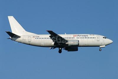 Jat Airways Boeing 737-3H9 YU-ANI (msn 23416) LHR (Antony J. Best). Image: 902962.