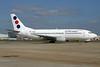 Jat Airways Boeing 737-3H9 YU-ANV (msn 24140) LHR. Image: 936714.
