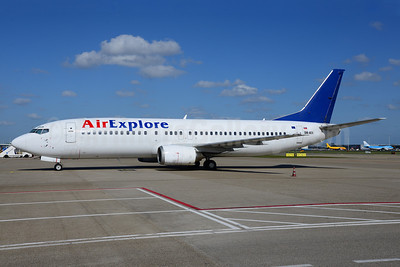 AirExplore Boeing 737-4Y0 OM-AEX (msn 25178)  (blue tail) AMS (Ton Jochems). Image: 913010.