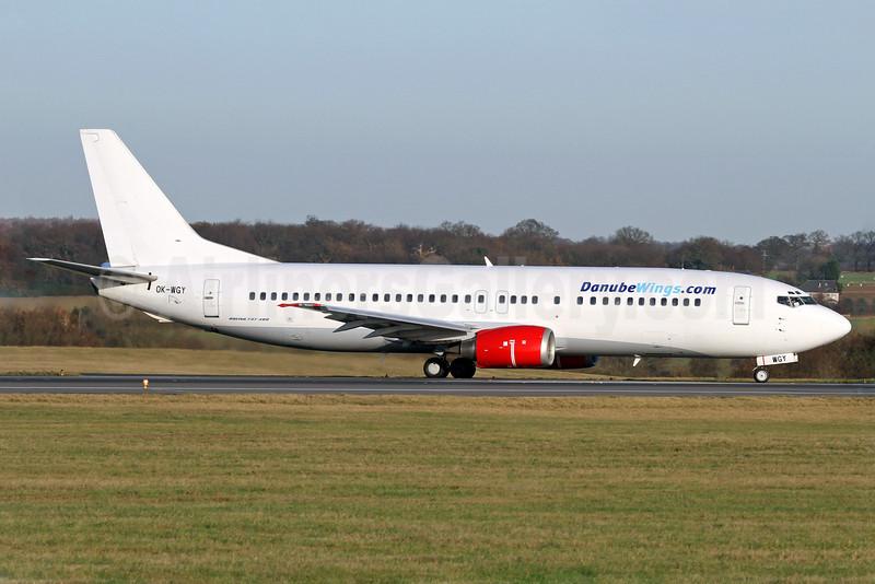 Danube Wings (DanubeWings.com) (Czech Airlines-CSA) Boeing 737-436 OK-WGY (msn 25839) LTN (John Ballantyne). Image: 904297.