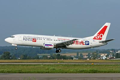 ParkinGO Boeing 737-400 logo jet of Go2Sky