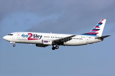 Go2Sky Boeing 737-4Q8 OM-GTA (msn 24332) LGW (Antony J. Best). Image: 930769.