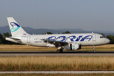 Adria Airways Airbus A319-132 S5-AAR (msn 4301) BSL (Paul Bannwarth). Image: 920008.