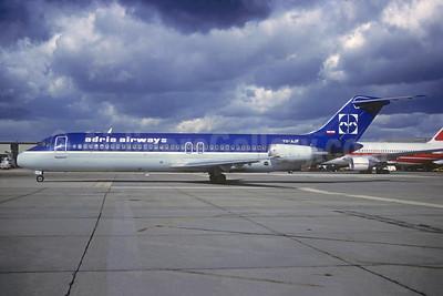 Adria Airways McDonnell Douglas DC-9-32 YU-AJF (msn 47570) (British Midland colors) LGW (Christian Volpati Collection). Image: 948696.