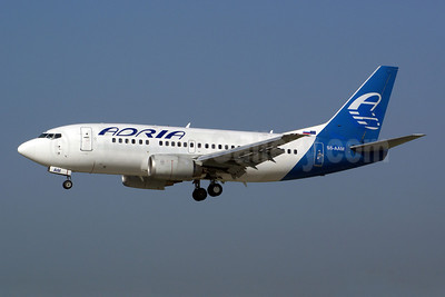 Adria Airways Boeing 737-528 S5-AAM (msn 25236) (Ukraine International colors) ZRH (Rolf Wallner). Image: 909723.