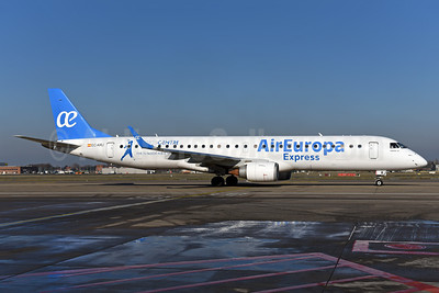Air Europa Express (2nd) Embraer ERJ 190-200LR (ERJ 195) EC-KRJ (msn 19000196) BRU (Ton Jochems). Image: 941033.