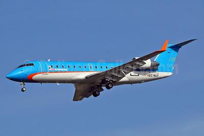 Air Nostrum-Iberia Regional Bombardier CRJ200 (CL-600-2B19) EC-MJY (msn 7915) (Sol Lineas Aereas colors) TLS (Eurospot). Image: 932185.