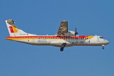 Air Nostrum-Iberia Regional ATR 72-212A (ATR 72-500) EC-HBY (msn 578) (Ciudad Autonoma de Melila) AGP (Stefan Sjogren). Image: 907201.