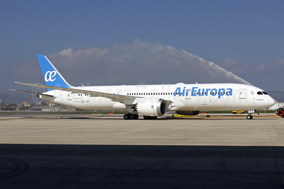 Air Europa' first Boeing 787-9 Dreamliner, delivered February 16, 2018