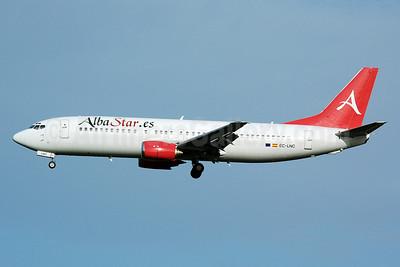 AlbaStar (AlbaStar.es) Boeing 737-4K5 EC-LNC (msn 24130) MAN (Nik French). Image: 920128.