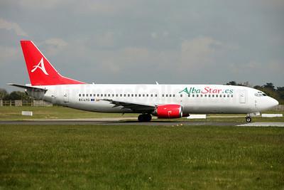 AlbaStar (AlbaStar.es) Boeing 737-4K5 EC-LTG (msn 24129) DUB (Greenwing). Image: 912214.