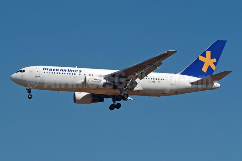 Bravo Airlines (Bravo Air Congo) Boeing 767-219 ER EC-JOZ (msn 24150) BRU (Karl Cornil). Image: 922707.