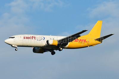 DHL - Swiftair Boeing 737-476 (F) EC-MFE (msn 24445) BSL (Paul Bannwarth). Image: 953991.