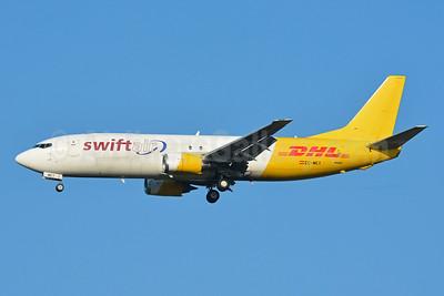 DHL - Swiftair Boeing 737-476 (F) EC-MEY (msn 24438) BSL (Paul Bannwarth). Image: 954504.