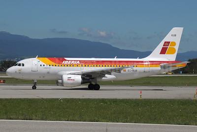 Iberia Airbus A319-111 EC-KUB (msn 3651) GVA (Paul Denton). Image: 933026.
