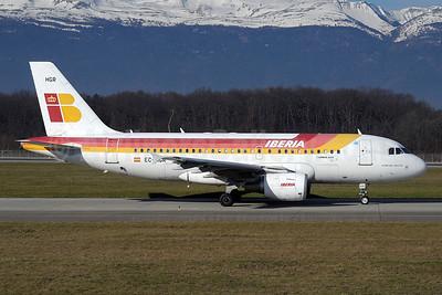 Iberia Airbus A319-111 EC-HGR (msn 1154) GVA (Paul Denton). Image: 911024.
