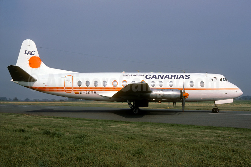 Lineas Aereas Canarias-LAC Vickers Viscount 806 G-AOYM (msn 262) SEN (Christian Volpati Collection). Image: 932277.
