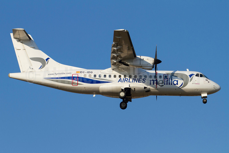 Melilla Airlines (Aero Nova) ATR 42-300 EC-IDG (msn 003) AGP (Stefan Sjogren). Image: 912868.