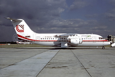 NortJet (Loganair) BAe 146-200 G-OLCA (msn E2099) (Loganair colors) LGW (Jacques Guillem Collection). Image: 934459.