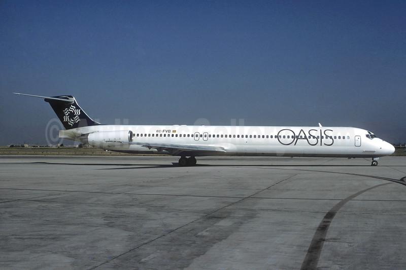 Oasis International Airlines McDonnell Douglas DC-9-83 EC-FVB (msn 49628) PMI (Christian Volpati). Image: 936878.