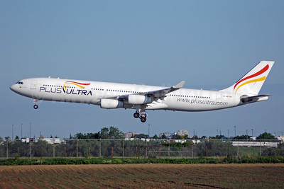 Plus Ultra Lineas Aereas Airbus A340-313 EC-MFB (msn 215) YYZ (TMK Photography). Image: 942337.