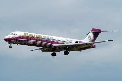 Pronair Airlines McDonnell Douglas DC-9-87 (MD-87) EC-KRV (msn 49843) BCN (Richard Vandervord). Image: 900878.