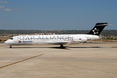 Spanair McDonnell Douglas DC-9-87 (MD-87) EC-KAZ (msn 49614) (Star Alliance) PMI (Ton Jochems). Image: 900573.