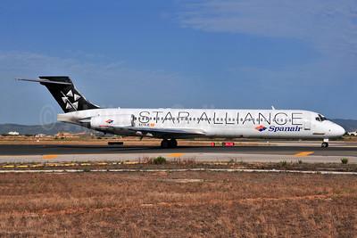 Spanair McDonnell Douglas DC-9-87 (MD-87) EC-KJE (msn 49606) (Star Alliance) PMI (Ton Jochems). Image: 955395.