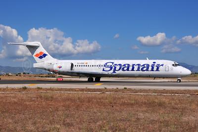 Spanair Boeing 717-23S EC-KNE (msn 55064) PMI (Ton Jochems). Image: 955384.