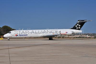Spanair McDonnell Douglas DC-9-87 (MD-87) EC-JTK (msn 53348) (Star Alliance) PMI (Ton Jochems). Image: 955395.