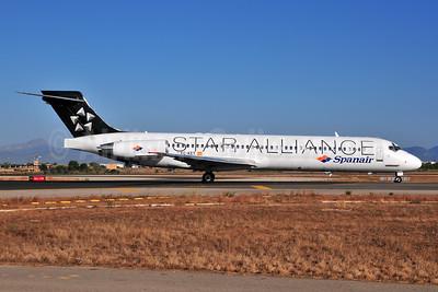 Spanair McDonnell Douglas DC-9-87 (MD-87) EC-KET (msn 49608) (Star Alliance) PMI (Ton Jochems). Image: 955396.