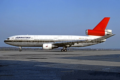 Spantax McDonnell Douglas DC-10-30 EC-DUG (msn 46576) (Swissair colors) ZRH (Christian Volpati Collection). Image: 942838.