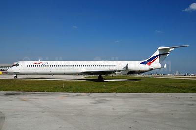 Swiftair (Spain) McDonnell Douglas DC-9-83 (MD-83) M814NK (EC-KCX) (msn 49619) MIA (Bruce Drum). Image: 100213.