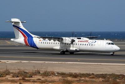 Swiftair (Spain) ATR 72-212A (ATR 72-500) EC-KKQ (msn 763) FUE (Roland Nussbaumer). Image: 900580.